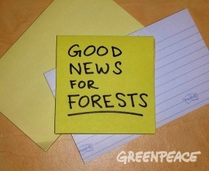 Posted! Good News for Forests
