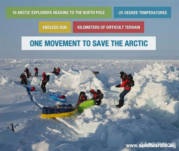 A difficult trek to the North Pole - Greenpeace