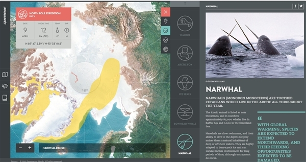 Into the Arctic map