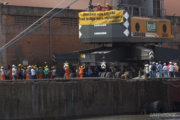 Dock crane occupied.