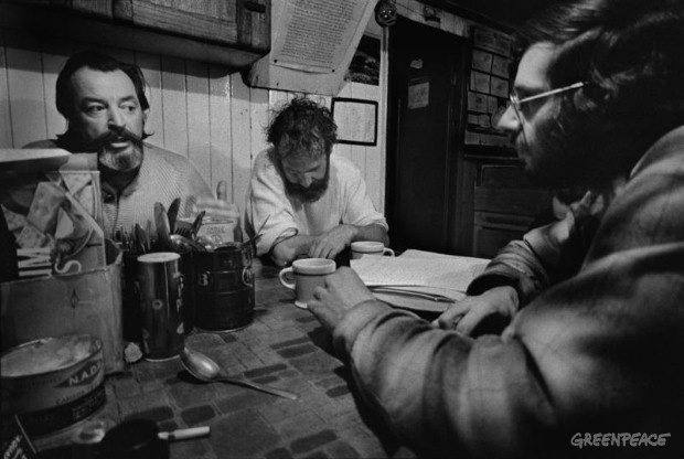 Ben Metcalfe, Jim Bohlen and Dick Fineberg, the first voyage to Amchitka 1971