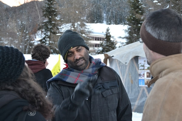 Kumi Naidoo Image courtesy of the Occupy Davos camp