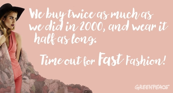 Time out for fast fashion illustration © Greenpeace