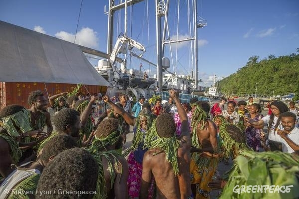 Human Rights and Climate Justice Workshop in Vanuatu. 8 Jun, 2015 © Steven Lyon / Greenpeace