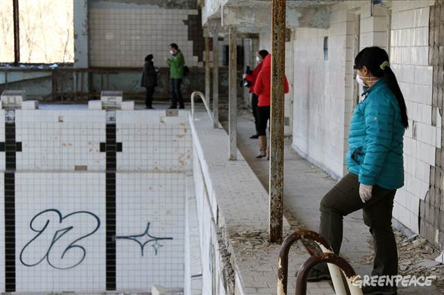 Iris Cheng in Ukraine by Greenpeace