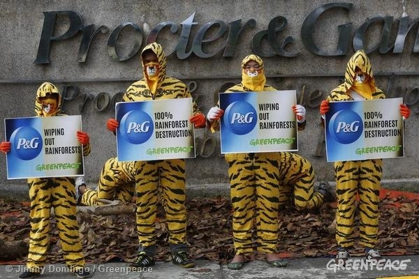 Procter & Gamble Protest in Philippines. © Jimmy Domingo/Greenpeace
