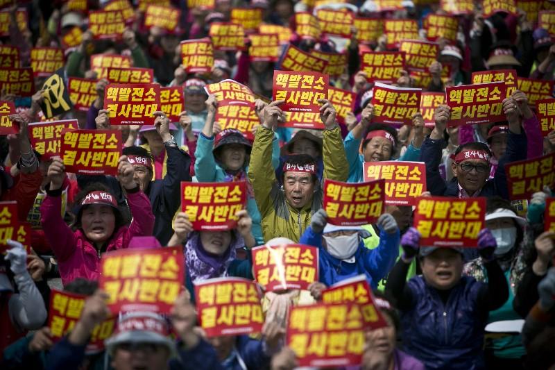 Korean Nuclear protest