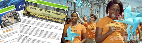 Greenpeace International email newsletter signup