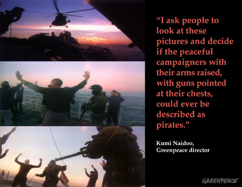 Russian Security Services Seize Arctic Sunrise. 09/19/2013 © Greenpeace