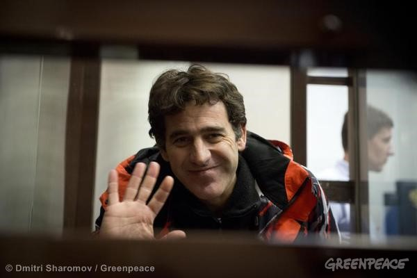 Miguel Hernan Orsi Bail Hearing At Murmansk Court. 10/23/2013 © Dmitri Sharomov / Greenpeace