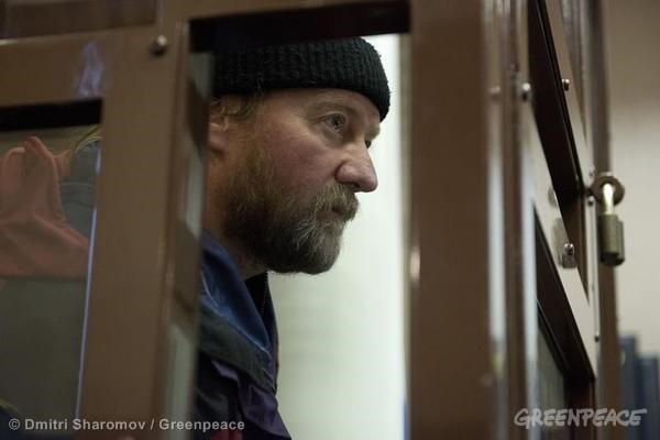 Paul D. Ruzycki Bail Hearing At Murmansk Court. 10/24/2013 © Dmitri Sharomov / Greenpeace