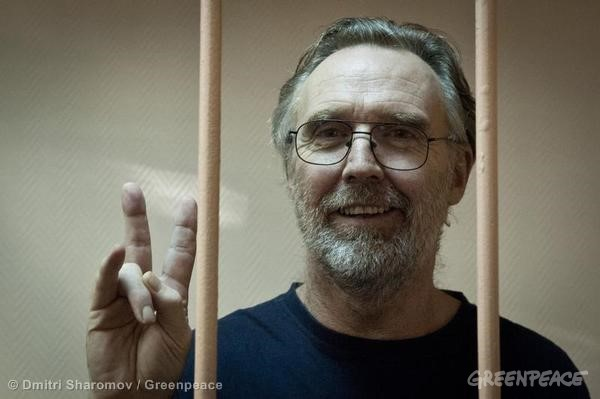 Colin Russell Dentention Hearing In St. Petersburg. 11/18/2013 © Dmitri Sharomov / Greenpeace