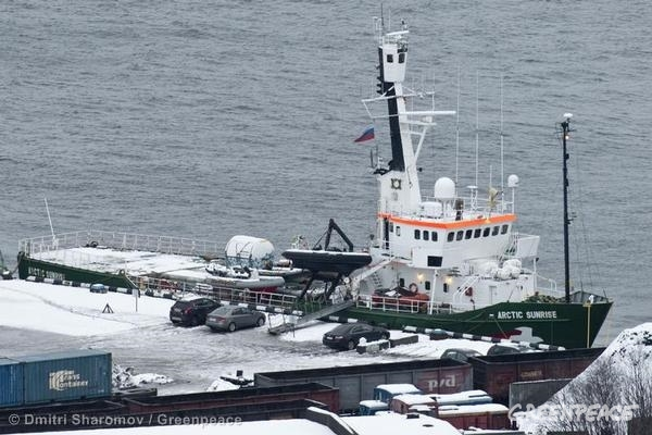 Arctic Sunrise under arrest in Murmansk