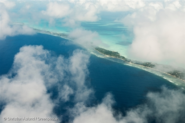 Kiribati, is a group of islands in the Pacific Ocean where the rising ocean is slowly encroaching on their community.