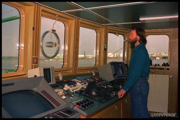 Captain Joel Stewart on Rainbow Warrior