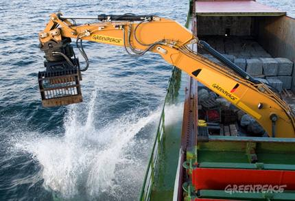 150 granite rocks are being placed on the Sylt Outer Reef in the German North Sea in order to put a stop to destructive bottom trawling.