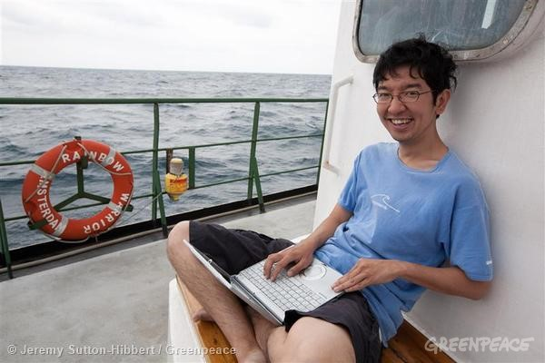 Daisuke Miyachi, is the Action and Volunteer Coordinator for Greenpeace Japan. © Jeremy Sutton-Hibbert / Greenpeace
