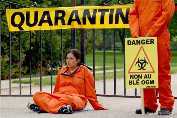 Activist Helps Quarantine Farm In Canada