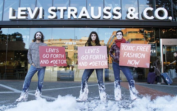 Detox Protest At Levi's Headquarters