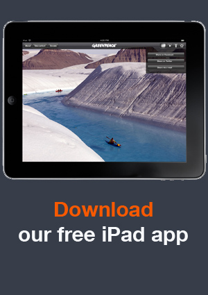 Greenpeace HD Images iPad application screenshot