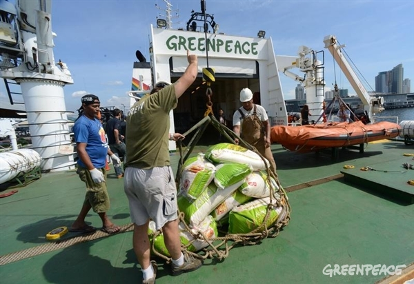Relief Goods Loaded Onto The Esperanza