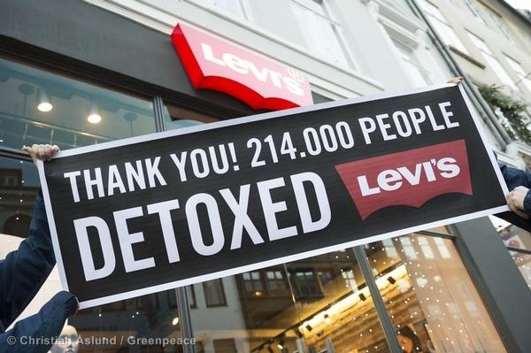 Thank You Levi's Message in Copenhagen