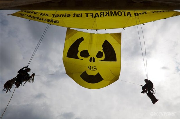 Nuclear Action on the Brandenburg Gate