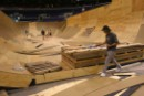 View of the main arena and wooden ramps