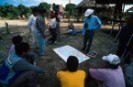 Greenpeace team giving map workshop in Deni