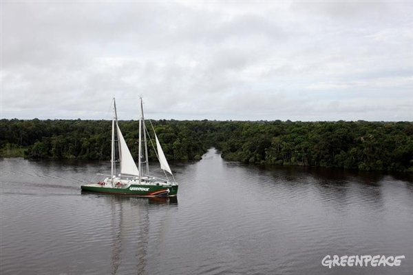 Rainbow Warrior begins its journey to Rio