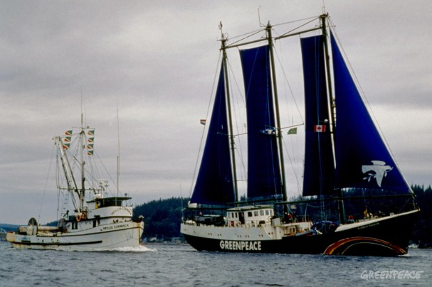 Phyllis Cormack and Rainbow Warrior Alert Bay