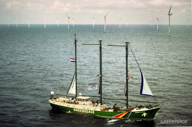 The Greenpeace flagship, the Rainbow Warrior, begins the first leg of the 'Choose Positive Energy Tour' in a global journey to support the development renewable energy around the world.
