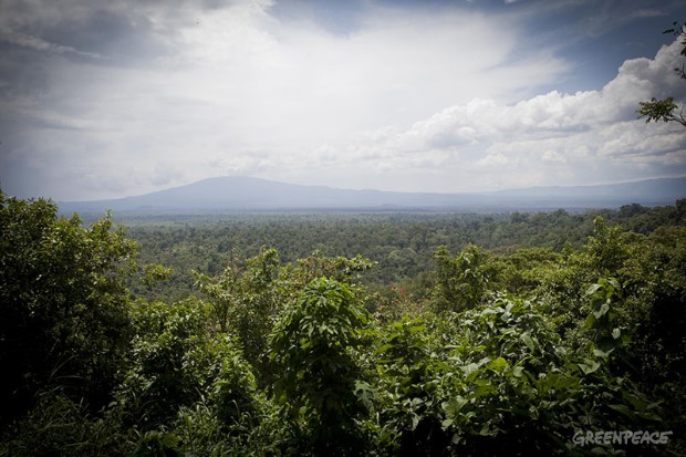 Virunga National Park in DRCUitzicht over Virunga National Park