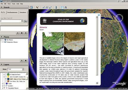 Google Earth and UNEP