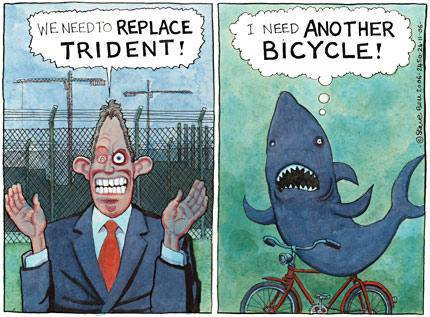 Steve Bell on Blair and the Trident replacement