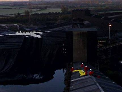 Activists occupying conveyor at Didcot Power Station
