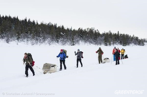 Training for the North Pole Expedition in Fefor, Norway