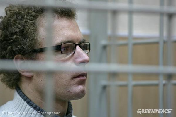 Marco Paolo Weber Bail Hearing At Murmansk Court. 10/21/2013 © Igor Podgorny / Greenpeace
