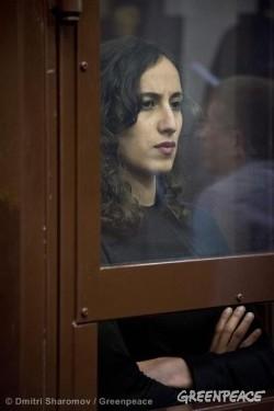 Faiza Oulahsen Bail Hearing At Murmansk Court. 10/18/2013 © Dmitri Sharomov / Greenpeace