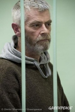 David Haussmann Bail Hearing At Murmansk Court. 10/14/2013 © Dmitri Sharomov / Greenpeace