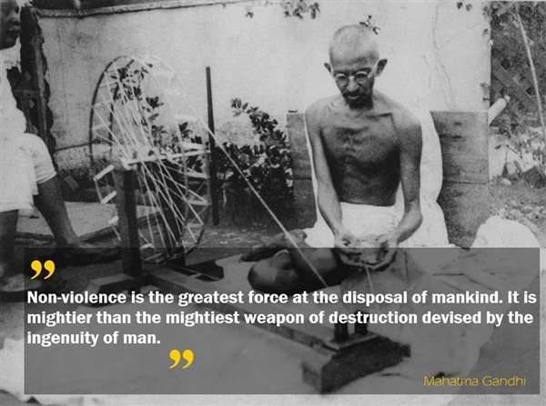 Ghandi quote on International Non-Violence Day