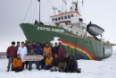 MY Arctic Sunrise Crew in Greenland