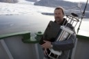 Glaciologist Dr Richard Bates on Arctic Sunrise