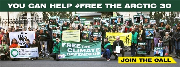 Free The Arctic 30 Banner