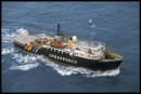 MV GREENPEACE in Irish Sea sailing from Dublin
