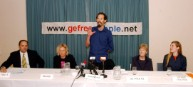 Greenpeace GE Campaigner Steve Abel at the Mothers Against Genetic Engineering press conference