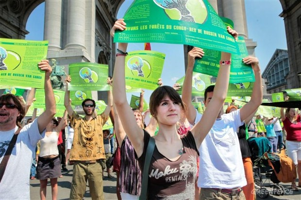 Save Congo's Forests Action in Brussels