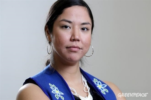 Kiera-Dawn Kolson is a Greenpeace Canada Arctic campaigner and a member of the Dene Nation