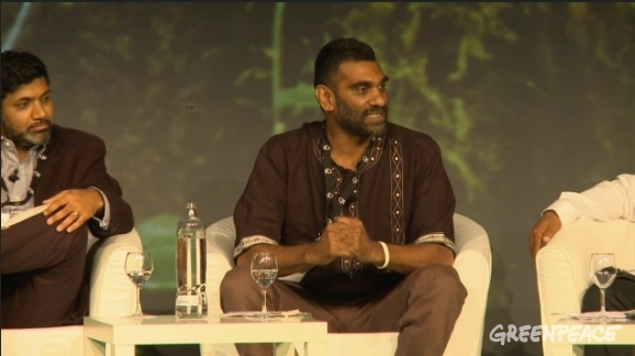 "Kumi Naidoo. Forest Stewardship Council 20th General Assembly, Sevilla (Spain) - ""Tropical forests in trouble"" panel discussion. © Greenpeace"