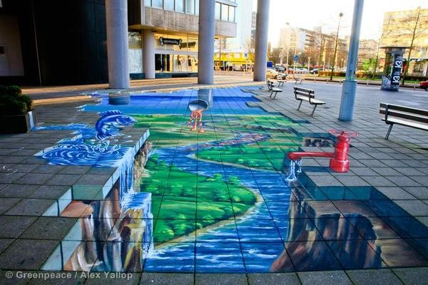 3D Street Painting at the World Fashion Centre in NL